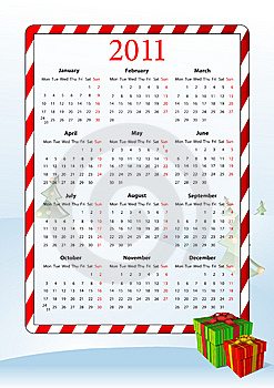 Vector Illustration Of European Calendar 2011 Royalty Free Stock Photo - Image: 15098325