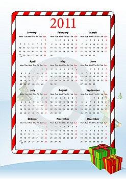 Vector Illustration Of European Calendar 2011 Royalty Free Stock Photo - Image: 15098325
