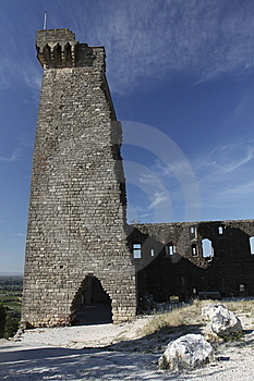 Castle Ruin In Châteauneuf-du-Pape Stock Photography - Image: 15098702