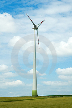Huge lone windmill Stock Photos