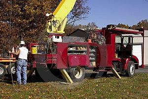 Utility Pole Worker Stock Photos - Image: 1513853