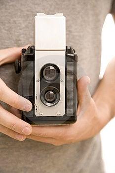 Macchina fotografica d'annata Fotografia Stock