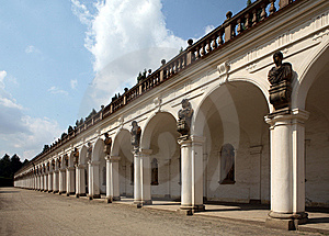 Colonnade Of  Castle Kromeriz Stock Photos - Image: 15101853