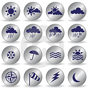 Weather Icons Royalty Free Stock Photography - Image: 15103267