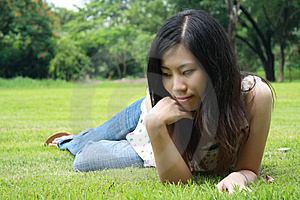 Cute Woman In The Park Royalty Free Stock Image - Image: 15103536