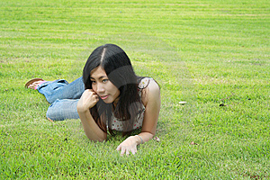 Cute Woman In The Park Stock Photos - Image: 15103543