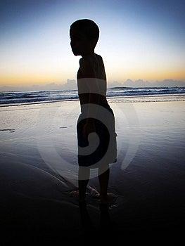 Boy At Sunrise Stock Images - Image: 15104154