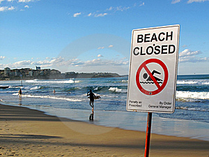 Beach Closed Stock Images - Image: 15104454