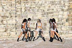 Moderne Dansers Royalty-vrije Stock Afbeeldingen - Afbeelding: 15105069