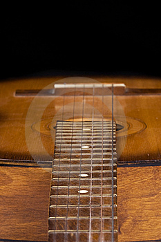 Part Of Guitar On Black Royalty Free Stock Images - Image: 15105539