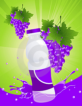 Vine Juice Bottle Stock Photo - Image: 15106170