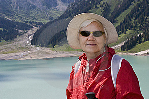 Old Women In Mountain Royalty Free Stock Images - Image: 15107599