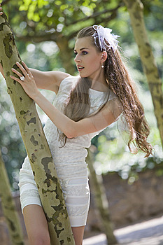 Young Bride Outdoor Stock Image - Image: 15107871