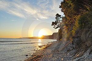 惊人的日落 免版税库存照片 - 图片: 15108105
