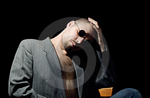 Bristly Man Stock Image - Image: 15109361