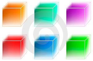 Many-coloured Ice Cubes Royalty Free Stock Image - Image: 15110416