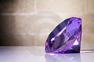 Big Crystal Against The Wall Background Royalty Free Stock Photo - Image: 15113575