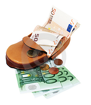 Leather Wallet With Euro Royalty Free Stock Photo - Image: 15116965