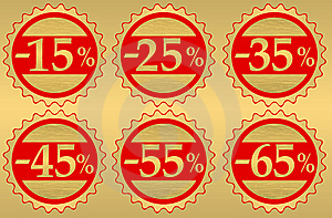 Set Of Festive Sale Stock Images - Image: 15117524
