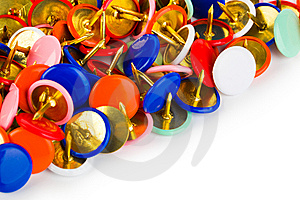 Heap Of Multicolored Pins Royalty Free Stock Photo - Image: 15120995