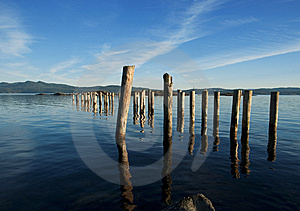 Pier Relics. Royalty Free Stock Photography - Image: 15122127