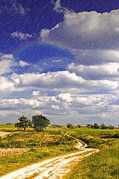 Light Rain Over Land Stock Image - Image: 15124561