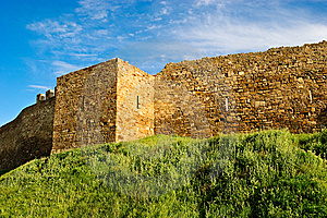 Wall And Tower Of Genoese Fortress Royalty Free Stock Photography - Image: 15125057