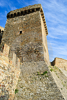 Wall And Tower Of Genoese Fortress Royalty Free Stock Photos - Image: 15125178
