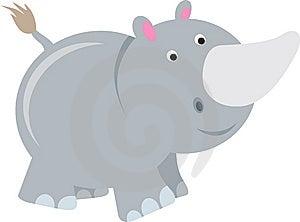 Rhino Cartoon Royalty Free Stock Photo - Image: 15125775