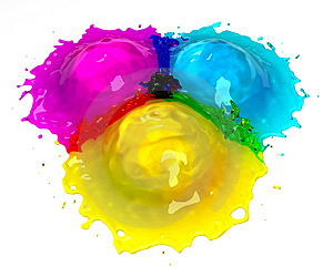 CMYK Splash Royalty Free Stock Photos - Image: 15128648