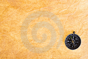 Old Paper And Compass Stock Photography - Image: 15129022
