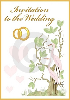 Invitation To The Wedding Stock Image - Image: 15131051