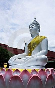White Image Of Buddha Royalty Free Stock Photos - Image: 15131528