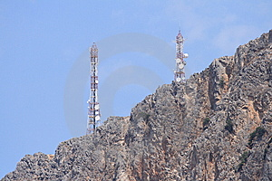 Gsm Antenna On Rocks Stock Photo - Image: 15132460