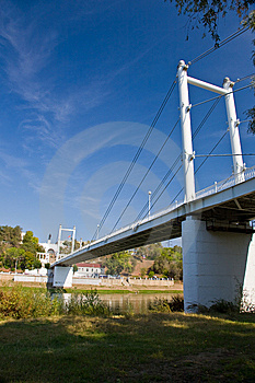 Bridge Over The River Of Ural In Orenburg. Royalty Free Stock Image - Image: 15132506
