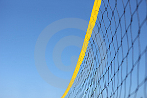 Detail Of Beach Volley Net Stock Image - Image: 15135291