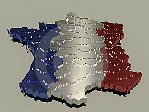 Metallic France Map Royalty Free Stock Photography - Image: 15135757