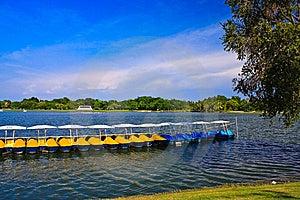 Peadal Boat In Lake Royalty Free Stock Photos - Image: 15136258