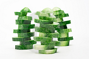 Turrets Of Sliced Cucumbers Stock Photography - Image: 15136962