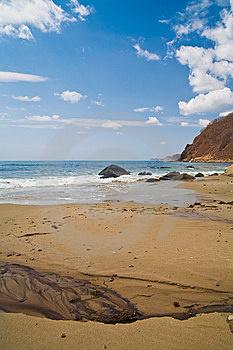 Russian, Primorye, Beautiful Sunny Beach Royalty Free Stock Photography - Image: 15137287