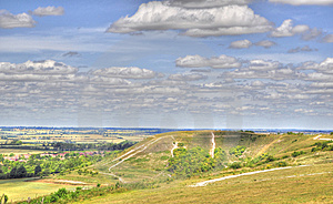HDR Of Dunstable Downs Stock Image - Image: 15138851