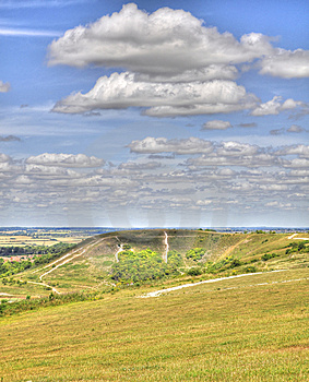 HDR Of Dunstable Downs Stock Photo - Image: 15138880