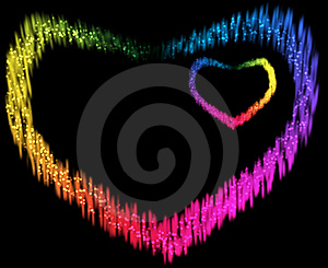 Two Spectrum Hearts Stock Photography - Image: 15138902