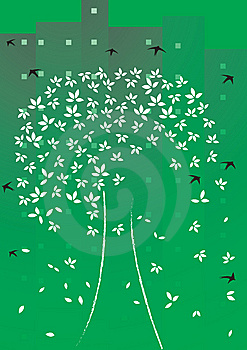 Illustration Of The Leaves Withered Royalty Free Stock Photography - Image: 15138917