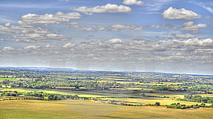 HDR Of Dunstable Downs Royalty Free Stock Image - Image: 15138966
