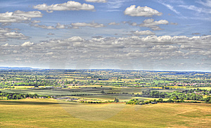 HDR Of Dunstable Downs Stock Photos - Image: 15138993