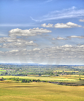 HDR Of Dunstable Downs Royalty Free Stock Photos - Image: 15139008
