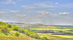 HDR Of Dunstable Downs Stock Photography - Image: 15139032