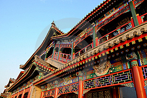 Royal Garden Architecture In China Royalty Free Stock Image - Image: 15139166