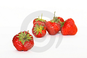 Strawberries On White Stock Photography - Image: 15142872